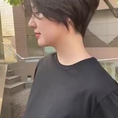 ハンサムショート マッシュショート ショートボブ ベリーショート ヘアスタイルや髪型の写真・画像