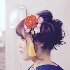 結婚式 謝恩会 成人式 ミディアム ヘアスタイルや髪型の写真・画像
