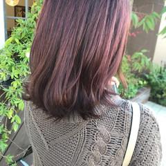 ピンクラベンダー ミディアム ラベンダー ラベンダーグレージュ ヘアスタイルや髪型の写真・画像
