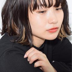 黒髪 モード パーマ 色気 ヘアスタイルや髪型の写真・画像