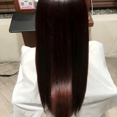 セミロング イルミナカラー パープル 艶髪 ヘアスタイルや髪型の写真・画像