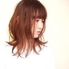 涼しげ ウェットヘア 夏 ロング ヘアスタイルや髪型の写真・画像