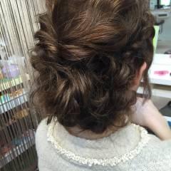 ゆるふわ ヘアアレンジ 裏編み込み 結婚式 ヘアスタイルや髪型の写真・画像