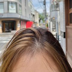 インナーカラー ロング 切りっぱなしボブ インナーカラーグレージュ ヘアスタイルや髪型の写真・画像