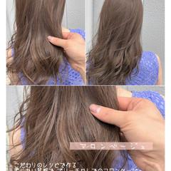 ミディアム ミルクティーグレージュ 大人かわいい アンニュイほつれヘア ヘアスタイルや髪型の写真・画像