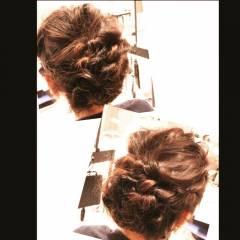 大人かわいい くるりんぱ 結婚式 ヘアアレンジ ヘアスタイルや髪型の写真・画像