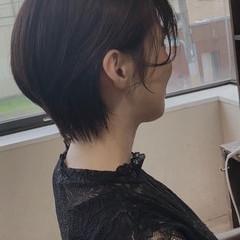 大人ショート ショート ショートヘア ナチュラル ヘアスタイルや髪型の写真・画像