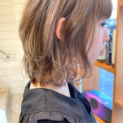 ミルクティーベージュ ガーリー ボブ ベージュカラー ヘアスタイルや髪型の写真・画像