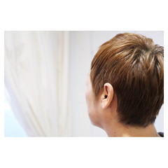 ハイトーン ベリーショート 大人女子 モード ヘアスタイルや髪型の写真・画像
