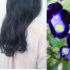 暗髪 グレージュ ブルージュ ガーリー ヘアスタイルや髪型の写真・画像