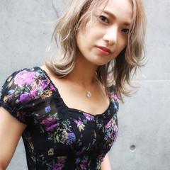ベージュ 韓国ヘア ミルクティーベージュ ヌーディベージュ ヘアスタイルや髪型の写真・画像
