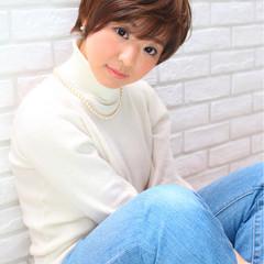 ガーリー 田中美保 パーマ ショートボブ ヘアスタイルや髪型の写真・画像