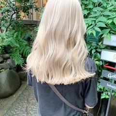 ストリート セミロング ブロンド ピンクヘア ヘアスタイルや髪型の写真・画像