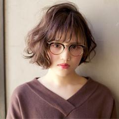 丸顔 ゆるふわ パーマ 簡単 ヘアスタイルや髪型の写真・画像