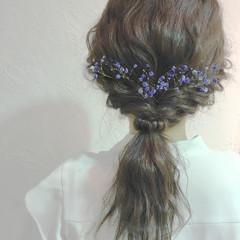 結婚式 パーティ ミディアム ヘアアレンジ ヘアスタイルや髪型の写真・画像
