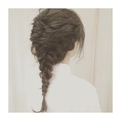 ミディアム ヘアアレンジ 簡単ヘアアレンジ くるりんぱ ヘアスタイルや髪型の写真・画像