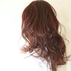 フェミニン 大人かわいい ピンク レッド ヘアスタイルや髪型の写真・画像