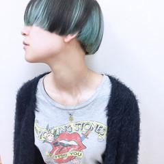 ストレート ハイトーン ショート ハイライト ヘアスタイルや髪型の写真・画像