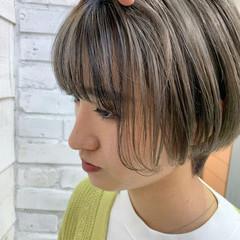 インナーカラー ベリーショート ショート ミニボブ ヘアスタイルや髪型の写真・画像