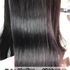 縮毛矯正 ロング ツヤ髪 髪質改善 ヘアスタイルや髪型の写真・画像