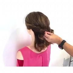 夏 デート フェミニン ヘアアレンジ ヘアスタイルや髪型の写真・画像