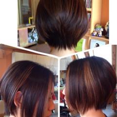 ショートボブ ダブルカラー 坊主 ストリート ヘアスタイルや髪型の写真・画像