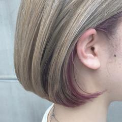 ショート グレージュ デート モード ヘアスタイルや髪型の写真・画像