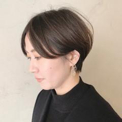 ナチュラル 簡単スタイリング ショート ショートヘア ヘアスタイルや髪型の写真・画像