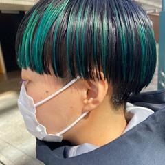 ショートヘア ショートボブ ブリーチカラー 刈り上げ女子 ヘアスタイルや髪型の写真・画像