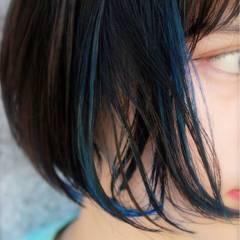 アッシュ ストリート ショート 黒髪 ヘアスタイルや髪型の写真・画像