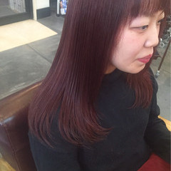 ラベンダーピンク ピンク ラベンダーアッシュ ベリーピンク ヘアスタイルや髪型の写真・画像