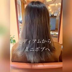 オフィス ミニボブ ナチュラル 大人かわいい ヘアスタイルや髪型の写真・画像