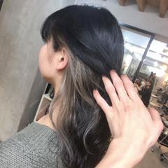ホワイトベージュ モード グレージュ インナーグレー ヘアスタイルや髪型の写真・画像