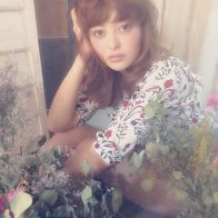 ロング ガーリー ブラウンベージュ 大人かわいい ヘアスタイルや髪型の写真・画像