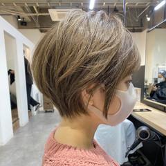 ハイトーン ハイトーンカラー ショート デザインカラー ヘアスタイルや髪型の写真・画像