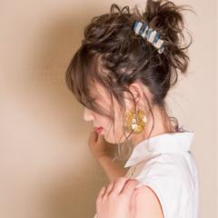 ヘアアレンジ ハイライト エレガント 秋 ヘアスタイルや髪型の写真・画像