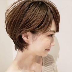 簡単ヘアアレンジ デート アンニュイほつれヘア 小顔ショート ヘアスタイルや髪型の写真・画像