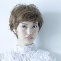 ナチュラル 大人かわいい 外国人風 ショート ヘアスタイルや髪型の写真・画像