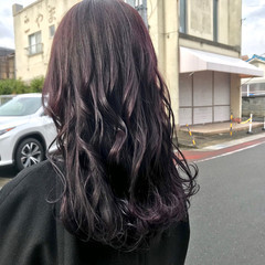 アンニュイほつれヘア モード バイオレットアッシュ バイオレットカラー ヘアスタイルや髪型の写真・画像