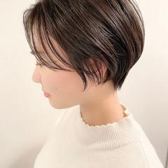 大人かわいい ショート ナチュラル ショートヘア ヘアスタイルや髪型の写真・画像