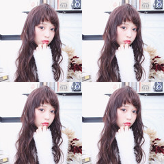 フェミニン ロング ハイライト 冬 ヘアスタイルや髪型の写真・画像