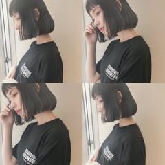 女子力 ヘアアレンジ 透明感 ボブ ヘアスタイルや髪型の写真・画像