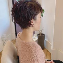 ショートヘア ショートパーマ ショート ゆるふわパーマ ヘアスタイルや髪型の写真・画像