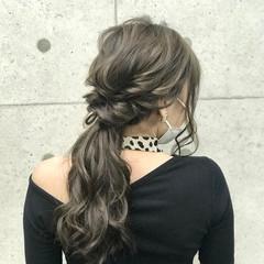 エレガント 結婚式 ヘアセット ロング ヘアスタイルや髪型の写真・画像