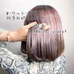 アンニュイほつれヘア ボブ ミニボブ ハイライト ヘアスタイルや髪型の写真・画像