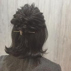 ショート ハーフアップ マジェステ ヘアアレンジ ヘアスタイルや髪型の写真・画像