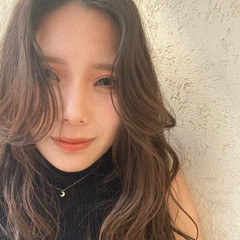 韓国ヘア 韓国 簡単スタイリング ロング ヘアスタイルや髪型の写真・画像