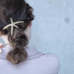 ヘアアレンジ ミディアム パーティ ヘアスタイルや髪型の写真・画像