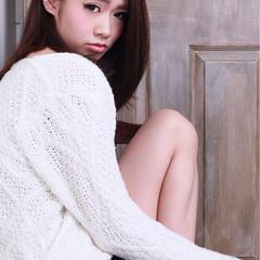 大人かわいい 外国人風 艶髪 ロブ ヘアスタイルや髪型の写真・画像