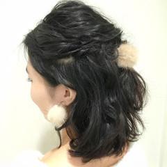 ショート 黒髪 ボブ ヘアアレンジ ヘアスタイルや髪型の写真・画像
